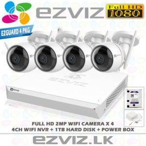 EZVIZ 1080P Full HD Wireless CCTV Camera System 4 Outdoor CCTV Camera With 4CH Wireless NVR Complete Package in Sri Lanka