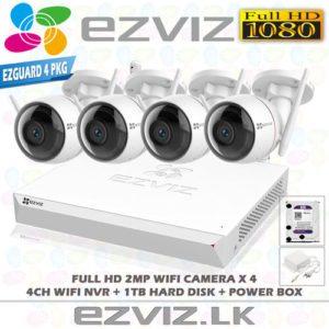 EZVIZ 1080P Full HD Wireless CCTV Camera System 4 Outdoor CCTV CameraWith 4CH Wireless NVR Complete Package in Sri Lanka