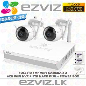 Ezviz 1MP Full HD Wifi 2Ch Outdoor package Brand: EZVIZ