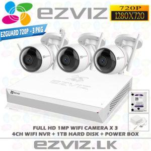 Ezviz 1MP Full HD Wifi 3Ch Outdoor package Brand: EZVIZ