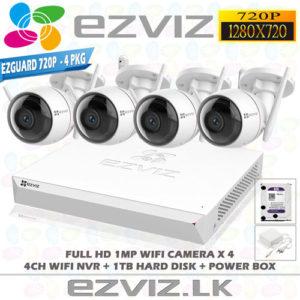 Ezviz 1MP Full HD Wifi 4Ch Outdoor package Brand: EZVIZ