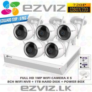 Ezviz 1MP Full HD Wifi 5Ch Outdoor package Brand: EZVIZ