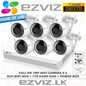 Ezviz 1MP Full HD Wifi 6Ch Outdoor package Brand-EZVIZ
