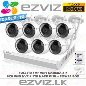 CCTV Camera 7ch package Outdoor wifi - EZVIZ 720P 1MP C3W - Best Price in Sri Lanka