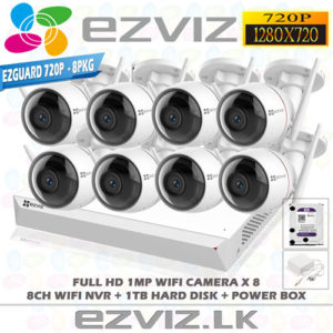 Outdoor wifi CCTV Camera 8ch package EZVIZ 720P 1MP C3W - Best Price in Sri Lanka