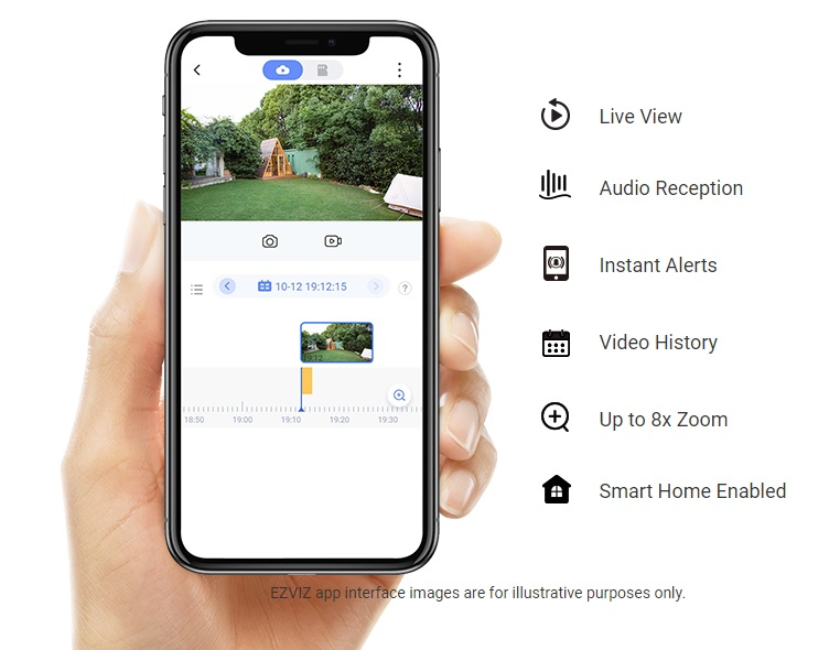 Security at your fingertips.  With the EZVIZ App, you can capture, save, protect, and share what's valuable to you.