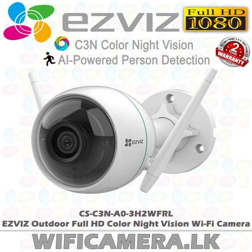 CS-C3N-A0-3H2WFRL best full HD human detect wifi outdoor smart camera sale in sri lanka